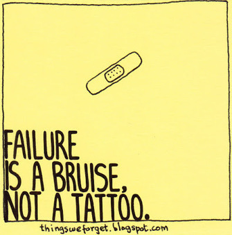 Things We Forget: 1151: Failure is a bruise, not a tattoo. | Innovatus | Scoop.it