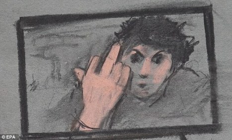 A middle finger to America: Prosecution open up penalty phase of Boston Bomber's trial with picture of unrepentant killer flipping off cameras three months after his arrest | ''SNIPPITS'' | Scoop.it