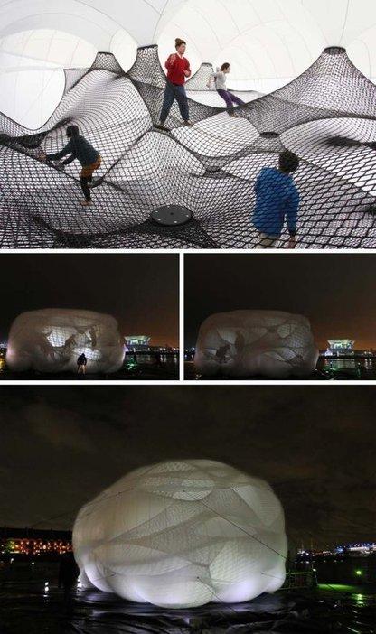 Net Blow-Up Yokohama: An Inflatable, Interactive Structure   PROYECTO ESPACIOS   Scoop.it