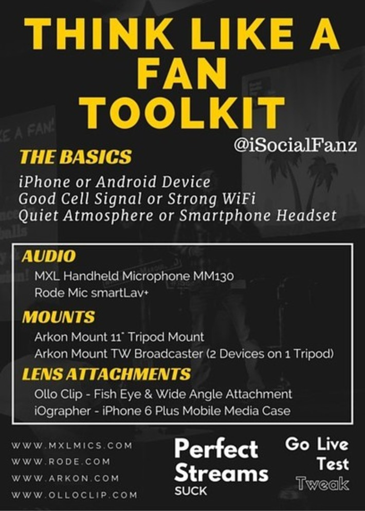 #ThinkLikeAFan Mobile Live Streaming Resources | iSocialFanz | Digital Social Media Marketing | Scoop.it