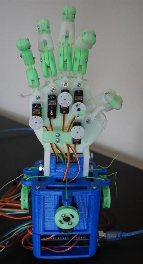 Learn about robotics with this 3D printed Hobby Hand that mimics natural hand movement | Digitized Health | Scoop.it