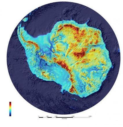 New map reveals what lies beneath the frozen continent. | Why Geology Rocks | Scoop.it