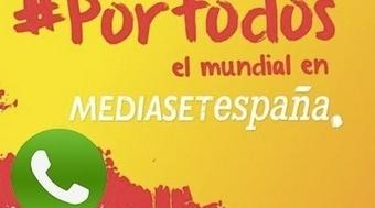 Mediaset y WhatsApp se alían para crear la mayor lista de difusión de cara al Mundial de Fútbol de Brasil | Aprendiendo con las TIC TAC | Scoop.it
