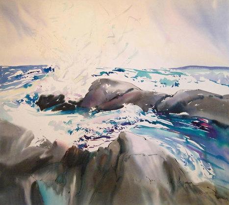 Nova-Scotia-Gale-2-45x50-Watercolour-Ink-1990-MIXED.jpg (800x718 pixels) | Art* | Scoop.it