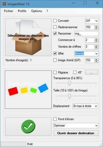 [Logiciel] ImagesMixer 7, pour traiter vos images par lot (convertir, redimensionner, renommer, filigrane, GIF Animé, fond d'écran) | zapwallpaper | Scoop.it