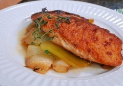 Braised Leeks with Pan Seared Tilapia | Growing A Greener World | Natural Soil Nutrients | Scoop.it