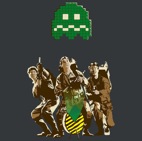 8-bit Ghostbusting T-Shirt | Geek in your face | Scoop.it