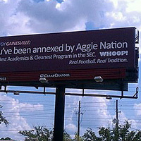 """Texas A & M Erects Billboard In Gainesville Declaring Itself """"Cleanest Program In The SEC"""" Prior To Aggies-Gators Matchup [UPDATE] 