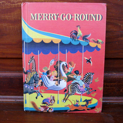 MerryGoRound Vintage Textbook with Illustrations par BookSeeDaisy | jr303 551 | Scoop.it