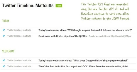 How to Get RSS Feeds for Twitter | Outils et  innovations pour mieux trouver, gérer et diffuser l'information | Scoop.it