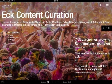 Content Marketing via Flipboard 2.0 | PR-Blogger | community manager: zusammenarbeit und vernetzung mit social media | Scoop.it