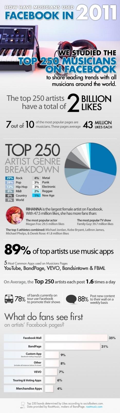 How Musicians Use Facebook [INFOGRAPHIC] - hypebot   L'actualité de la filière Musique   Scoop.it