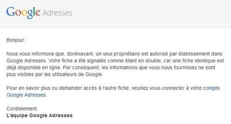 Google vient de modifier à nouveau les règles de Google Adresses | Médias sociaux | Scoop.it