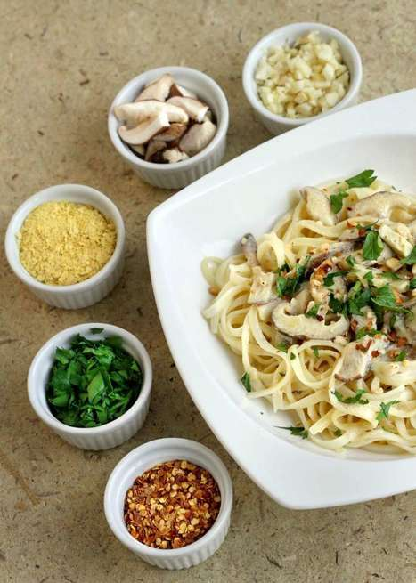 Vegan linguine with shiitake mushroom cream sauce. Pasta Recipe | Becoming Vegan Recipes and Advice | Scoop.it