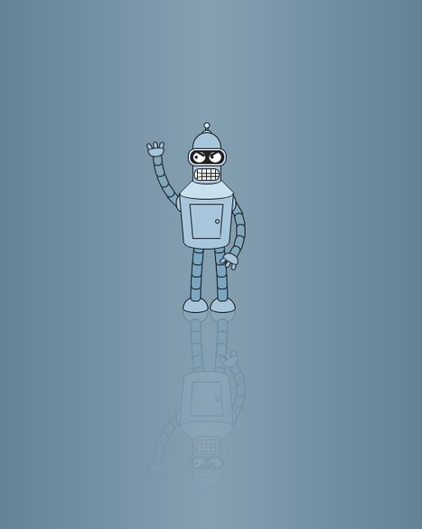 Dancing Robot with Reflection | @cssdeck | #Technology | Scoop.it