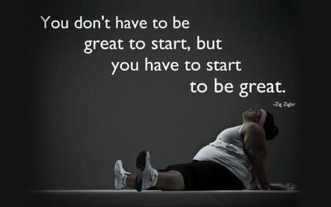 You don't have to be great to start.. But ...You have to start to be great ;))   performance versus  accomplissement   Scoop.it