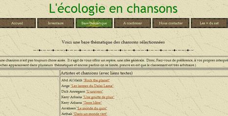 L'écologie en chansons | Remue-méninges FLE | Scoop.it