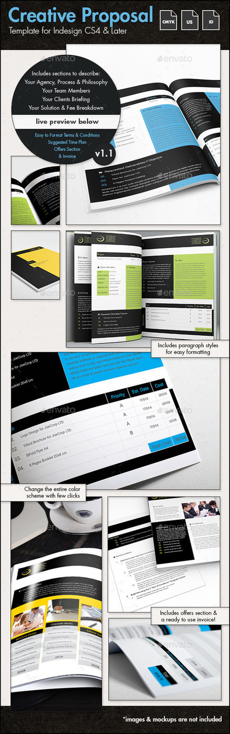 Creative Proposal Template - US Letter | Creative Designer, and Web Developer | Scoop.it