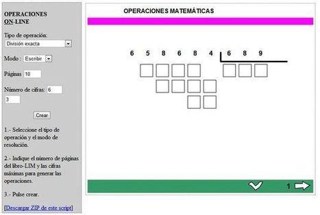 Generador de ejercicios matemáticos para resolver online.- | Aprendiendoaenseñar | Scoop.it