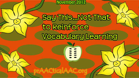Say This... Not That | Augmentative and Alternative Communication (AAC) | Scoop.it