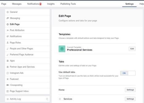 Facebook : bientôt des modèles de page différents selon le type d'entreprise ? - Blog du Modérateur | réseaux sociaux | Scoop.it