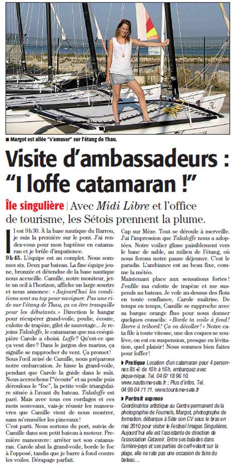 Sortie en Catamaran avec le centre nautique | Sète Tourisme : les ambassadeurs-reporters sur le terrain | Scoop.it