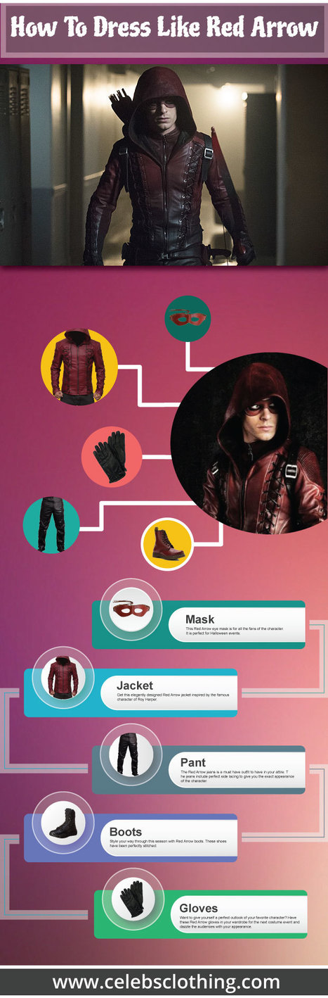 DIY Red Arrow Costume Guide - Infographics | celebrities Leather Jackets | Scoop.it