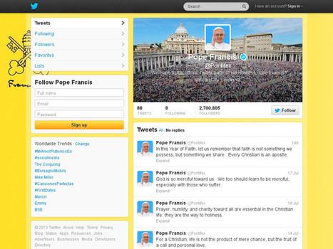Si tu veux aller au Paradis, suis le pape sur Twitter !   Prestataire & Conseil en communication digitale   Scoop.it