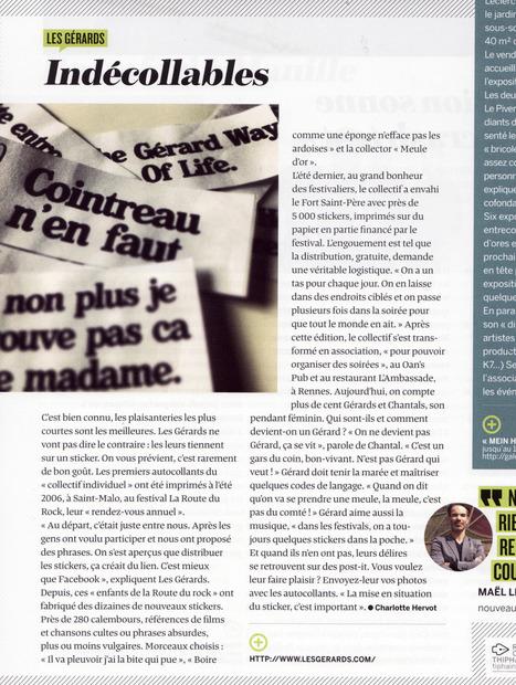 Indécollables | LE MENSUEL DE RENNES | Les Gérards | Scoop.it