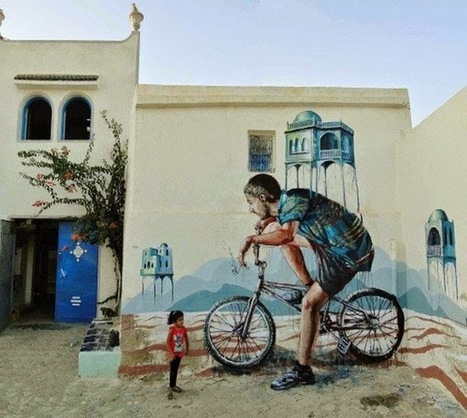 Surreal style Street Art By Fintan Magee | Vigorous Art | ESL- EFL and Art | Scoop.it