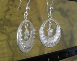 """Boucles d'Oreille WANGDARI """"Star"""" en argent 925   boucles d'oreille   Scoop.it"""