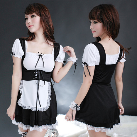 Sexy Lace-up French Maid Uniform Costume for Women   Favorite Costumes   Scoop.it