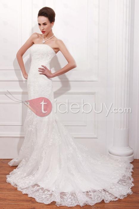 Terrific Trumpet/Mermaid Strapless Chapel Lace Renata's Wedding Dress | sweet heart | Scoop.it