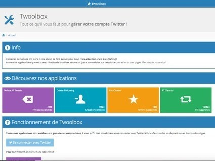 Twoolbox, des outils pour le nettoyage d'un compte #Twitter | Time to Learn | Scoop.it