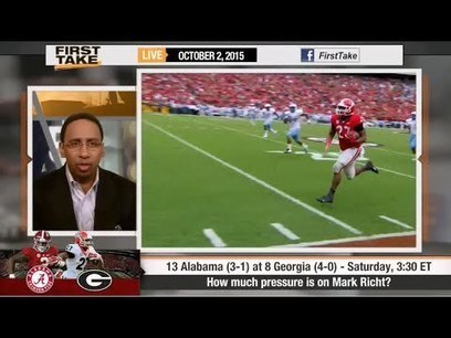 ESPN First Take - Alabama vs. Georgia : Mark Richt Performance ? - Football Fans Review | Nothing But News | Scoop.it