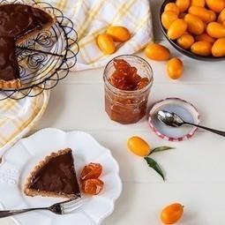 Almond, chocolate and cumquat tart with candied cumquats   Baking Recipes   Scoop.it
