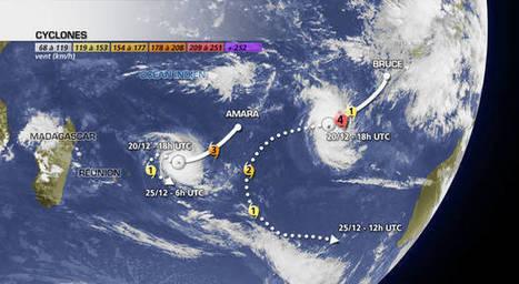 Actualité Météo deux exemples de cyclones dans l'océan indien: Bruce et Amara | typhons et cyclones | Scoop.it