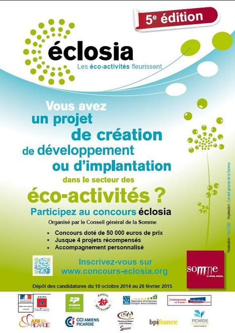 J-3 avant la clôture de la 5ème édition du concours Eclosia pour les entreprises et porteurs de projet des #écoactivités | Se former pour inventer le futur | Scoop.it