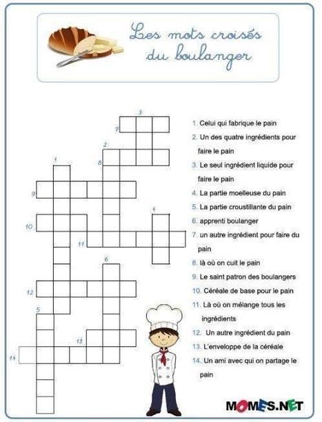 les mots croisés du boulanger | Français Langue Étrangére FLE | Scoop.it