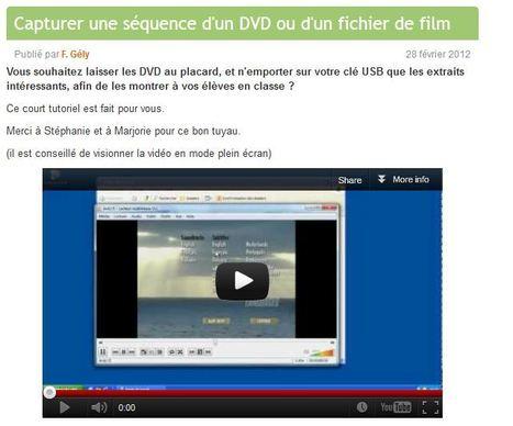 Astuce T.U.I.C.E: comment capturer un morceau de Film ou de DVD ... | Tice et Tice | Scoop.it