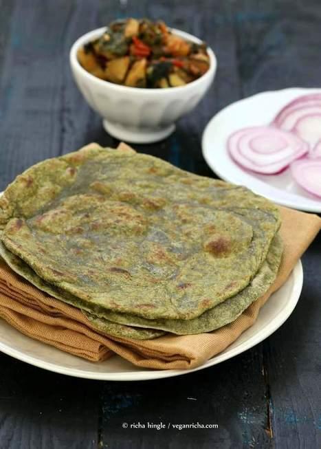 Spinach Paratha flatbread - Yeast free - Vegan Richa | My Vegan recipes | Scoop.it