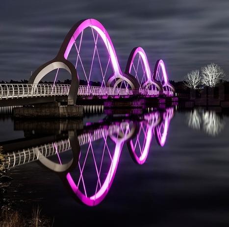 Europe's Longest Pedestrian Bridge Beautifully Illuminates Sweden's Sölvesborg Bay | green streets | Scoop.it