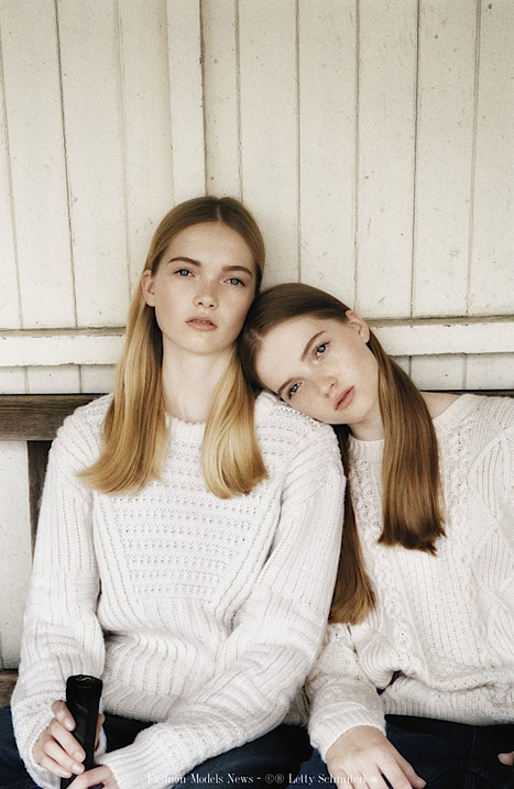 [seen on the web] English new faces May & Ruth Bell on 'Models.com' | Social Media | Scoop.it