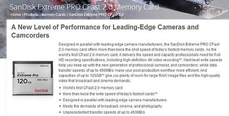 SanDisk : une carte mémoire qui transfert 100 Go en 4 minutes | Aw3some Pr0ducts | Scoop.it