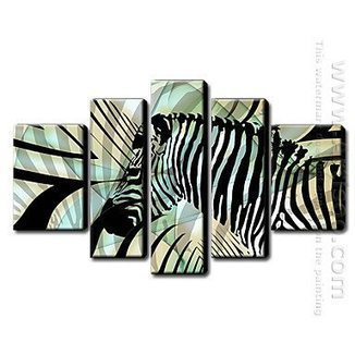 Hand Painted Oil Painting Animal - Set of 5 1211-AN0033 -Canvas Sets | Black White Sepia Canvas Painting Sets | Scoop.it