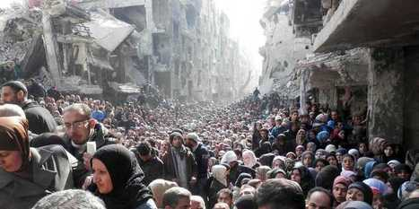 EMERGENCY PROVISIONS: Refugees In Syria Lining Up To Get Food Aid Is Unbelievable | > Emergency Relief | Scoop.it