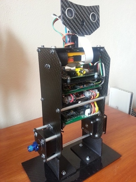 RS4 - Self balancing Raspberry Pi image processing Robot | Let's Make Robots! | Heron | Scoop.it
