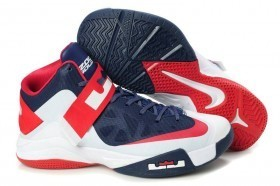 Shining Colorway Dark Blue Nike Zoom Lebron Soldier VI Red White Shoes | My english page | Scoop.it