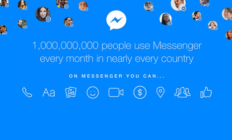 Facebook: anche Messenger nel club da 1 miliardo di utenti | Social Media War | Scoop.it