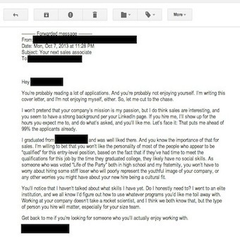 The Worst Cover Letter Ever Written (Literally)   News on Knotch   Scoop.it